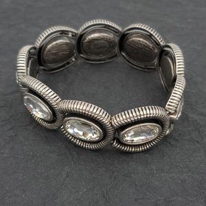Lia Sophia Jewelry - Lia Sophia Clear Rhinestone Stretch Bracelet